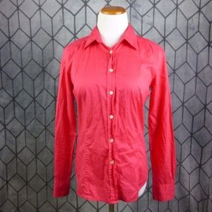 J Crew Coral Long Sleeve Button Down Shirt